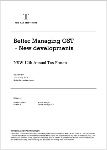 Better Managing GST – New Developments thumbnail