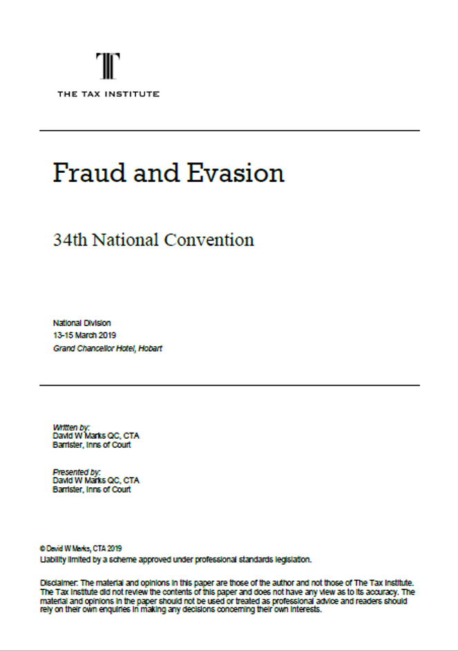 Fraud and Evasion cover